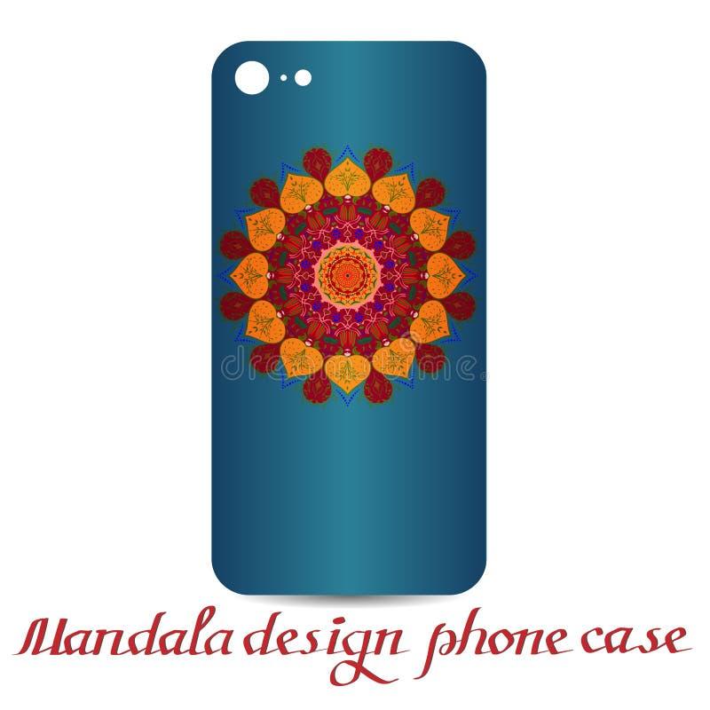 Τηλεφωνική περίπτωση σχεδίου Mandala διακοσμητικά στοιχεία ελεύθερη απεικόνιση δικαιώματος