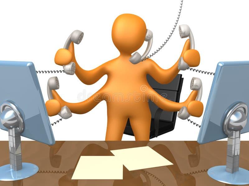 τηλεφωνική υποστήριξη διανυσματική απεικόνιση