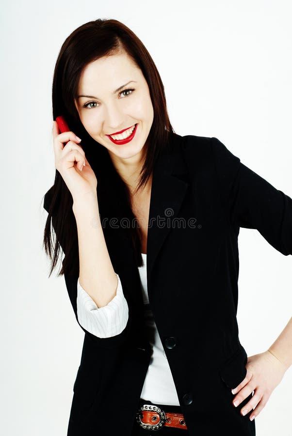 τηλεφωνική χαμογελώντα&sigma στοκ εικόνες με δικαίωμα ελεύθερης χρήσης