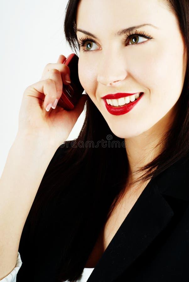 τηλεφωνική χαμογελώντα&sigma στοκ εικόνα