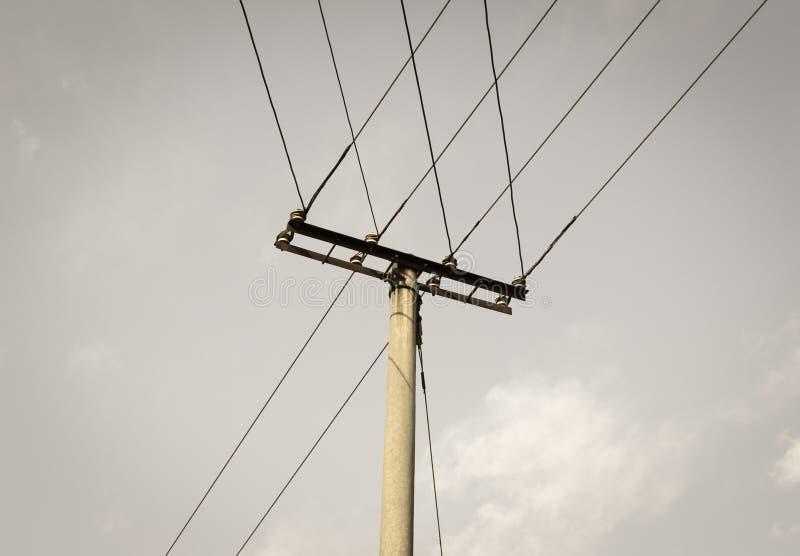 Τηλεφωνικός πόλος στοκ φωτογραφία με δικαίωμα ελεύθερης χρήσης