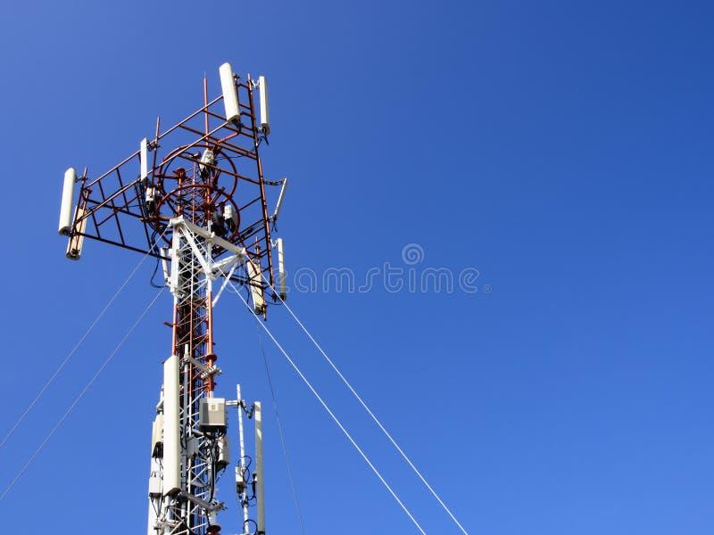 Τηλεφωνικός πύργος κυττάρων στοκ εικόνα