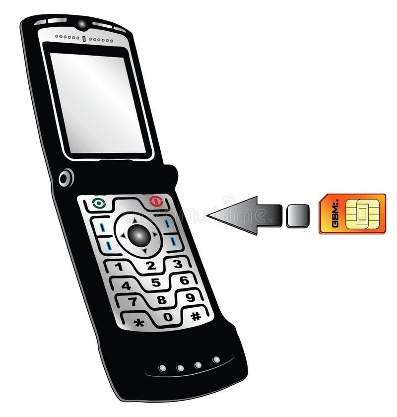 τηλεφωνικό διάνυσμα διανυσματική απεικόνιση