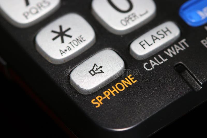 Τηλεφωνικό κουμπί ομιλητών στενός επάνω πυροβολισμός στοκ φωτογραφία με δικαίωμα ελεύθερης χρήσης