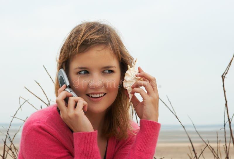 τηλεφωνικό κοχύλι στοκ εικόνα με δικαίωμα ελεύθερης χρήσης
