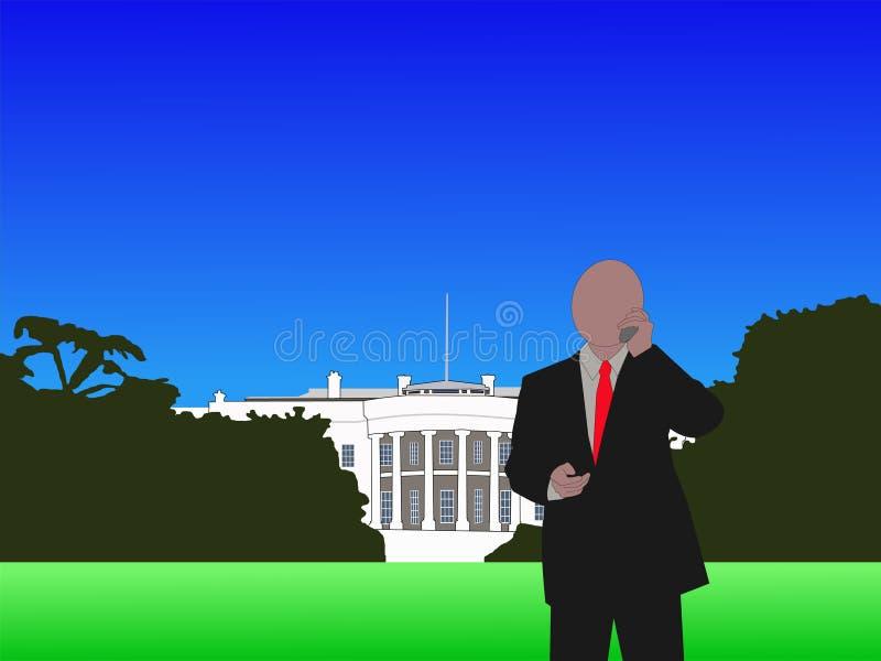 τηλεφωνικό λευκό ατόμων σπιτιών ελεύθερη απεικόνιση δικαιώματος
