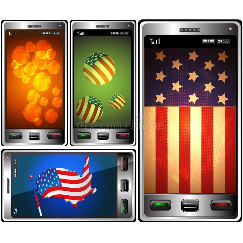 τηλεφωνικό symbolics ΗΠΑ ελεύθερη απεικόνιση δικαιώματος