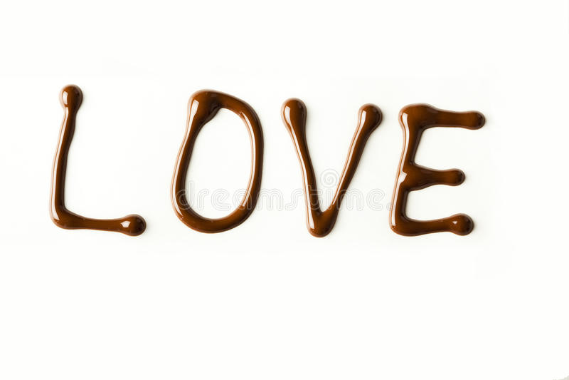την αγάπη σοκολάτας που λειώνουν στοκ φωτογραφία