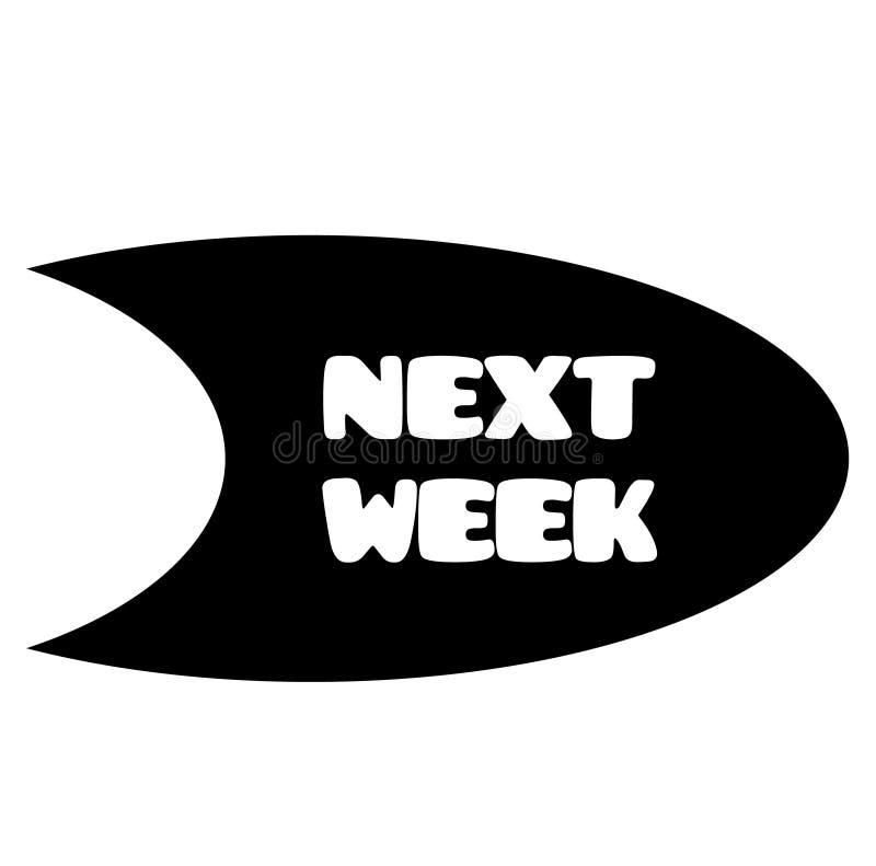 Την επόμενη εβδομάδα γραμματόσημο στο λευκό διανυσματική απεικόνιση