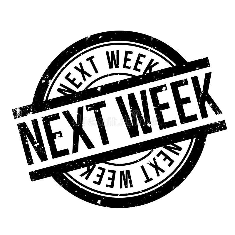 Την επόμενη εβδομάδα σφραγίδα ελεύθερη απεικόνιση δικαιώματος