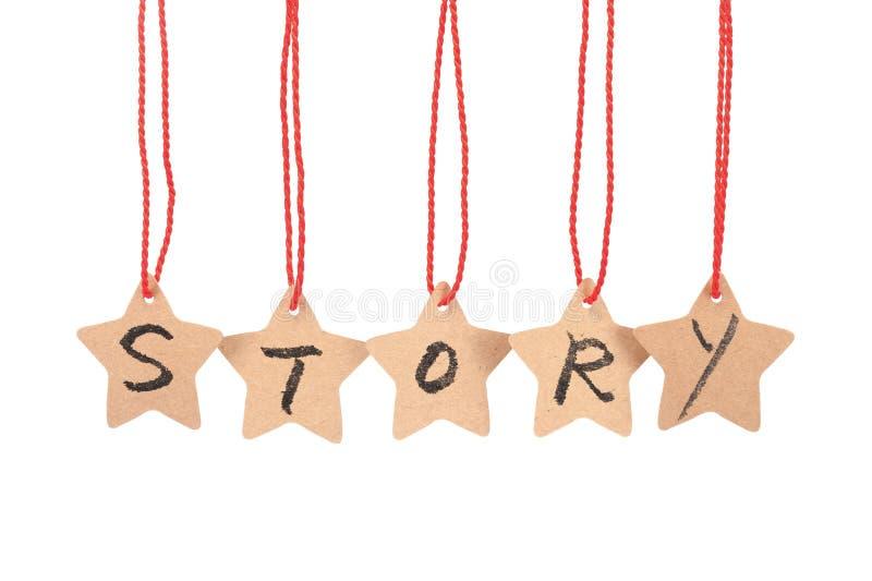 Λέξη ιστορίας στοκ εικόνες