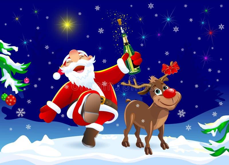 Την παραμονή των Χριστουγέννων διανυσματική απεικόνιση