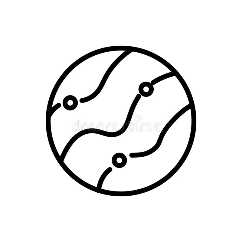 Της Αφροδίτης σημάδι και σύμβολο εικονιδίων διανυσματικό που απομονώνονται στο άσπρο υπόβαθρο διανυσματική απεικόνιση