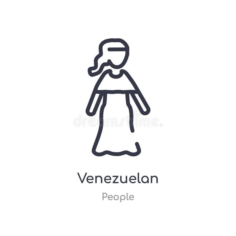 της Βενεζουέλας εικονίδιο περιλήψεων απομονωμένη διανυσματική απεικόνιση γραμμών από τη συλλογή ανθρώπων editable λεπτό της Βενεζ ελεύθερη απεικόνιση δικαιώματος
