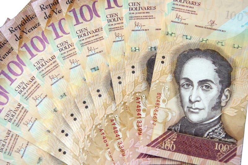 100 της Βενεζουέλας τραπεζογραμμάτιο bolivares που απομονώνεται στο άσπρο υπόβαθρο στοκ φωτογραφίες με δικαίωμα ελεύθερης χρήσης