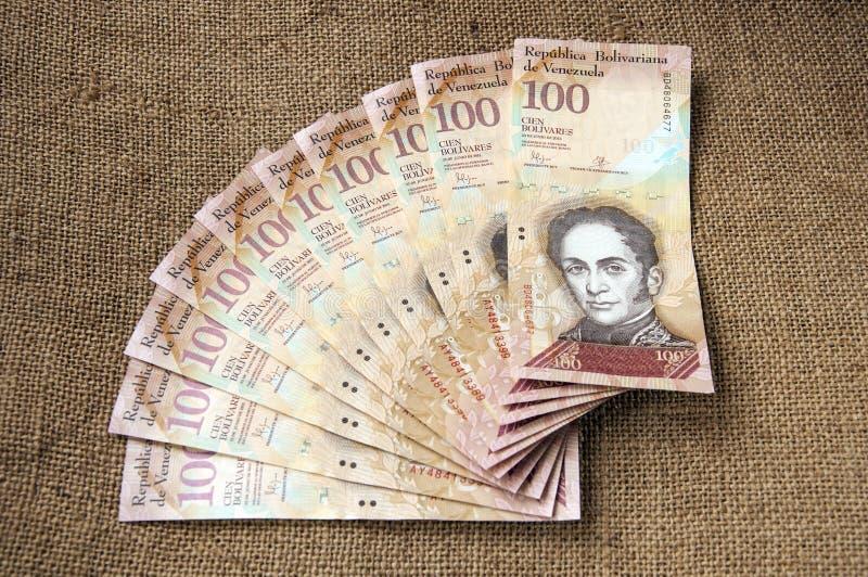100 της Βενεζουέλας τραπεζογραμμάτιο bolivares στοκ εικόνες με δικαίωμα ελεύθερης χρήσης