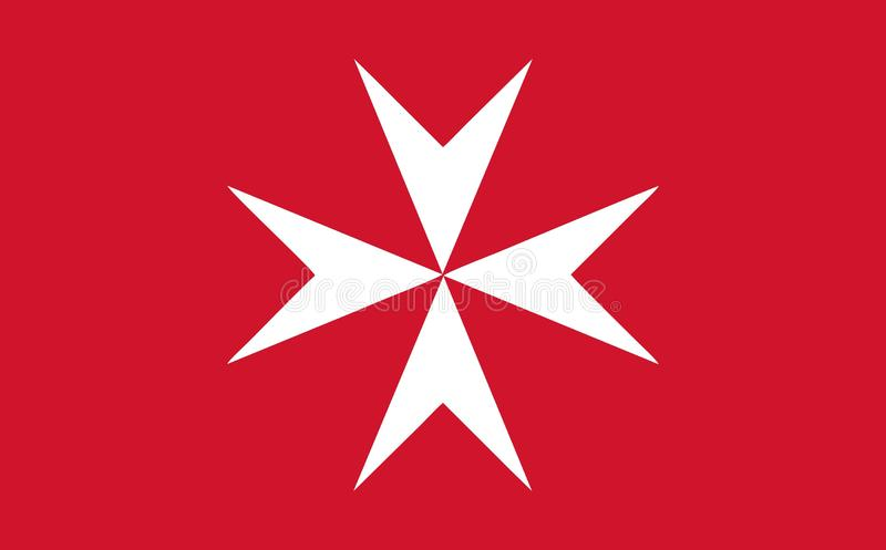 Της Μάλτα αστικό ensign απεικόνιση αποθεμάτων