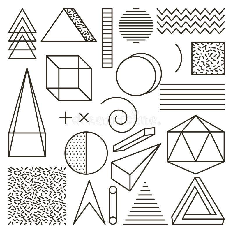 Της Μέμφιδας ύφους άνευ ραφής περίληψη εικονιδίων σχεδίων γεωμετρική ελεύθερη απεικόνιση δικαιώματος