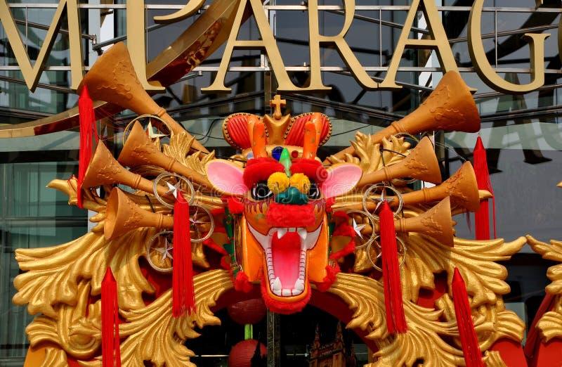 της Μπανγκόκ κινεζικό έτος της Ταϊλάνδης δράκων νέο στοκ εικόνες