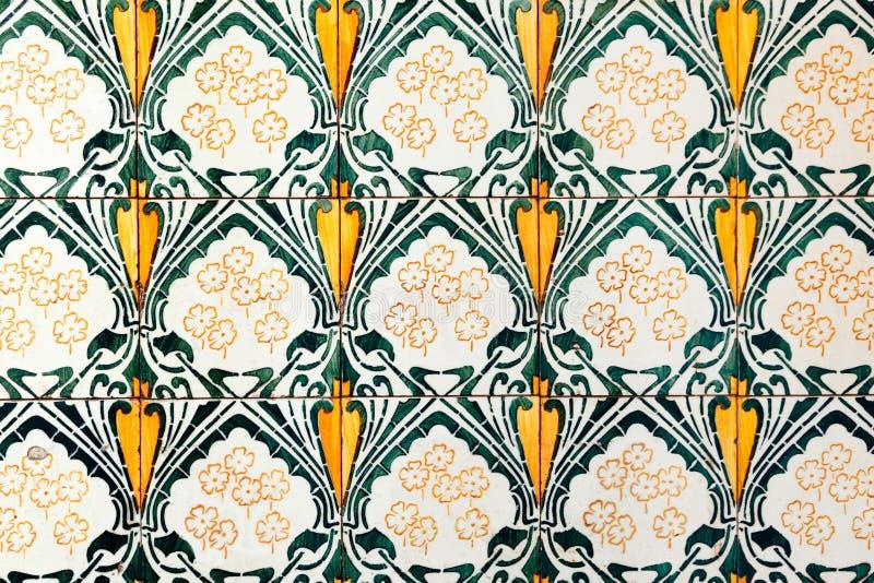 Της Ολλανδίας κεραμιδιών ολλανδικός εκλεκτής ποιότητας πράσινος κίτρινος διακοσμήσεων ζωγραφικής σχεδίων παλαιός φωτεινός πολύχρω ελεύθερη απεικόνιση δικαιώματος