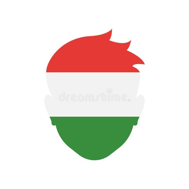 Της Ουγγαρίας σημάδι και σύμβολο εικονιδίων διανυσματικό που απομονώνονται στο άσπρο υπόβαθρο διανυσματική απεικόνιση