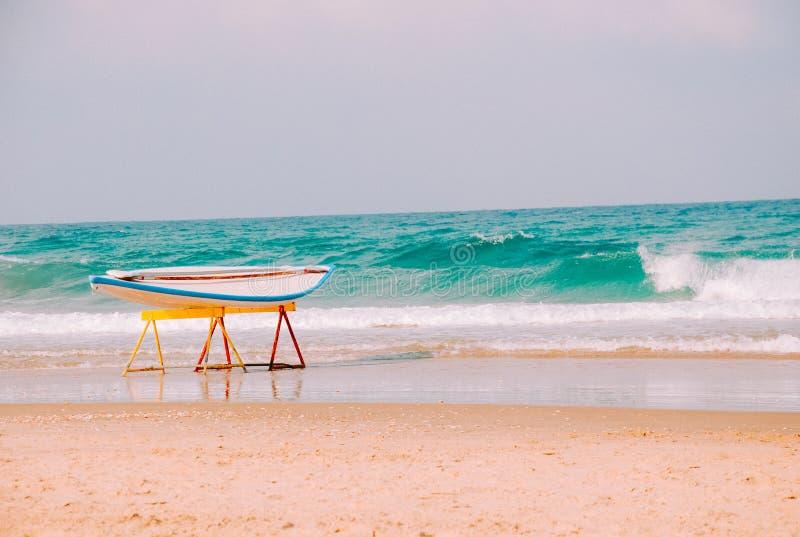 Της Χαβάης ιστιοσανίδα στην παραλία της Μεσογείου στο Ισραήλ στοκ φωτογραφίες