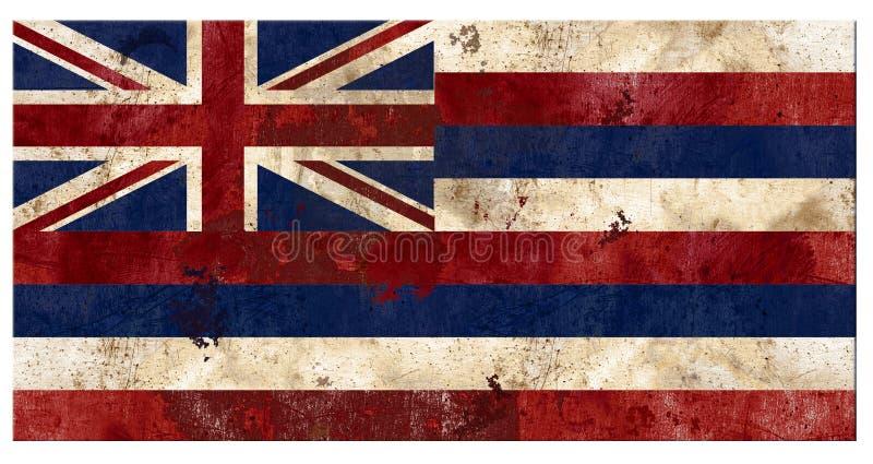 Της Χαβάης της Χαβάης σημαιών αγροτική παλαιά αντίκα μετάλλων Grunge εκλεκτής ποιότητας στοκ εικόνες με δικαίωμα ελεύθερης χρήσης