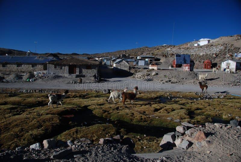 της Χιλής μικρό χωριό στοκ φωτογραφία