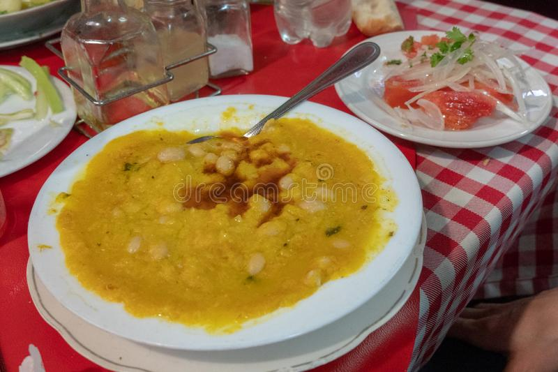 Της Χιλής σούπα φακών στοκ εικόνα