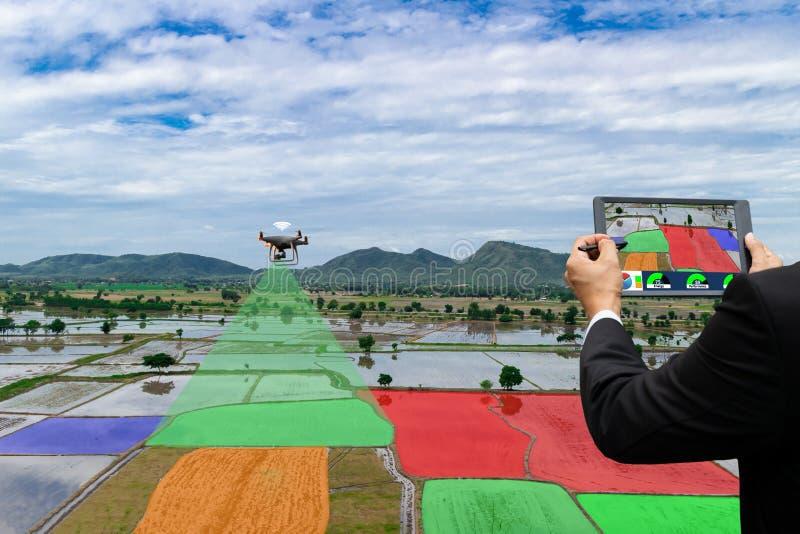 Της Farmer υπέρυθρη γεωργική αυτοματοποίηση Dorn αεροσκαφών ελέγχου τηλεκατευθυνόμενη στοκ εικόνες