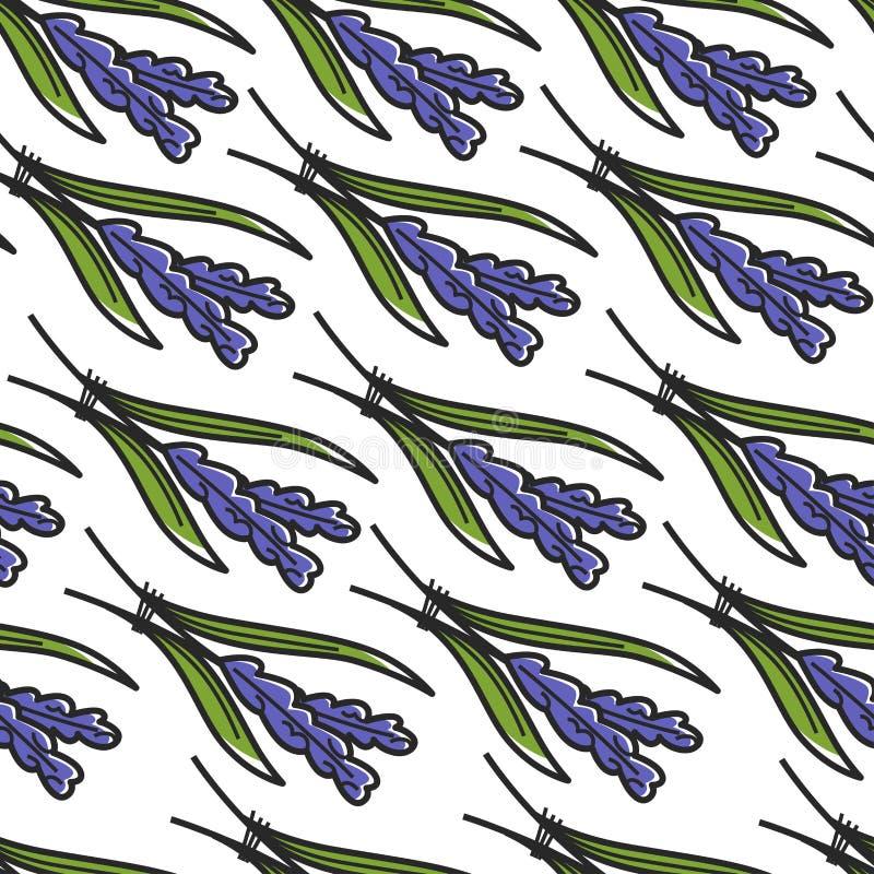 Της Iris εγκαταστάσεων της Κροατίας μπλε λουλούδι σχεδίων συμβόλων άνευ ραφής ελεύθερη απεικόνιση δικαιώματος
