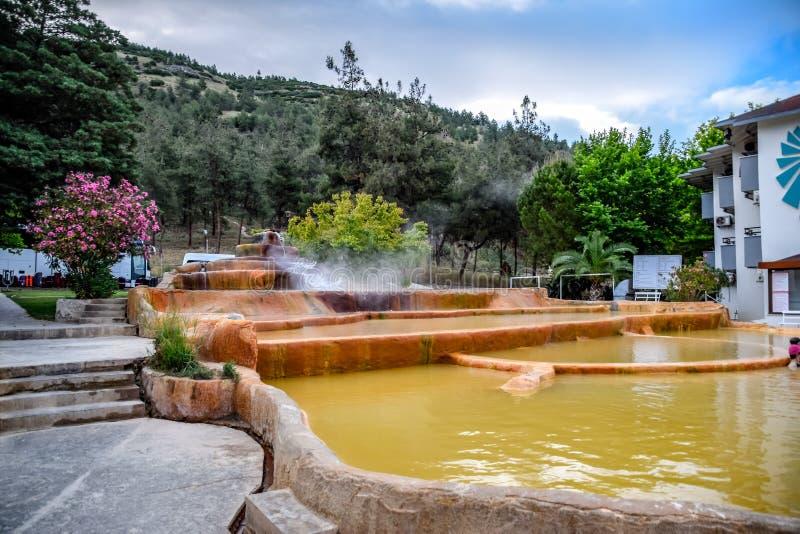 Της Pam θερμικό ορυκτό ιατρικό νερό άνοιξη ξενοδοχείων καυτό στοκ φωτογραφίες με δικαίωμα ελεύθερης χρήσης