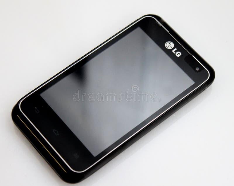 Τηλέφωνο κυττάρων κινήσεων LG στοκ φωτογραφία με δικαίωμα ελεύθερης χρήσης