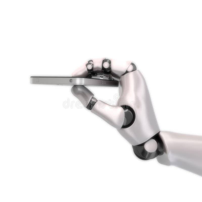 Τηλέφωνο χεριών ρομπότ στοκ εικόνα