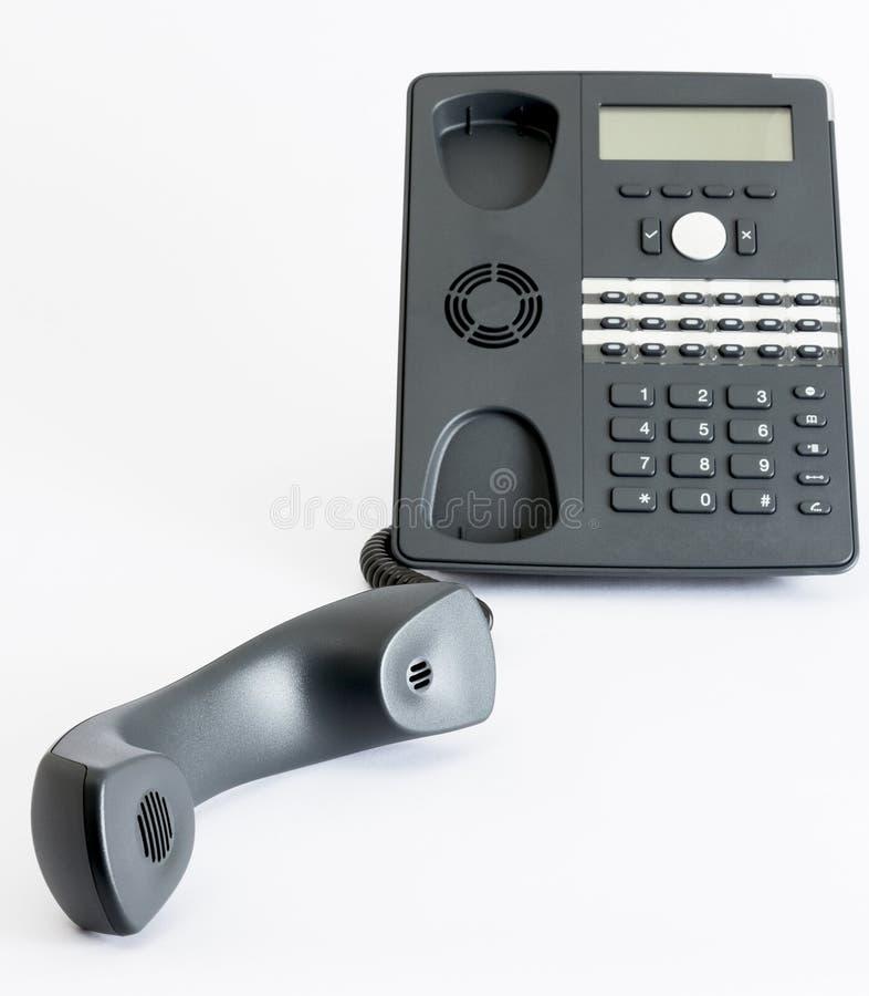 Τηλέφωνο Voip που απομονώνεται στο γκρίζο υπόβαθρο στοκ φωτογραφίες με δικαίωμα ελεύθερης χρήσης