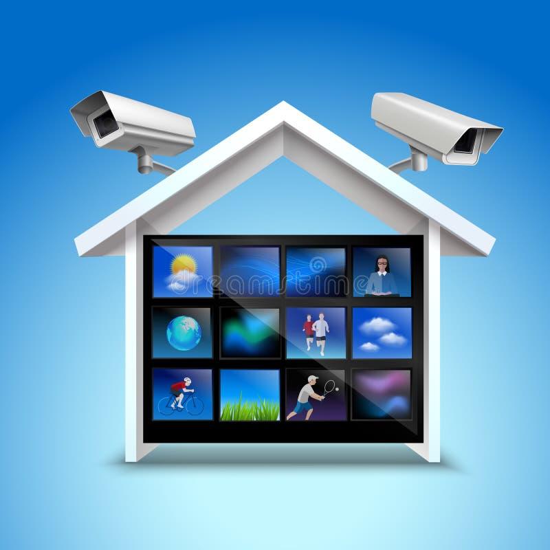 Τηλεοπτική έννοια ασφάλειας ελεύθερη απεικόνιση δικαιώματος