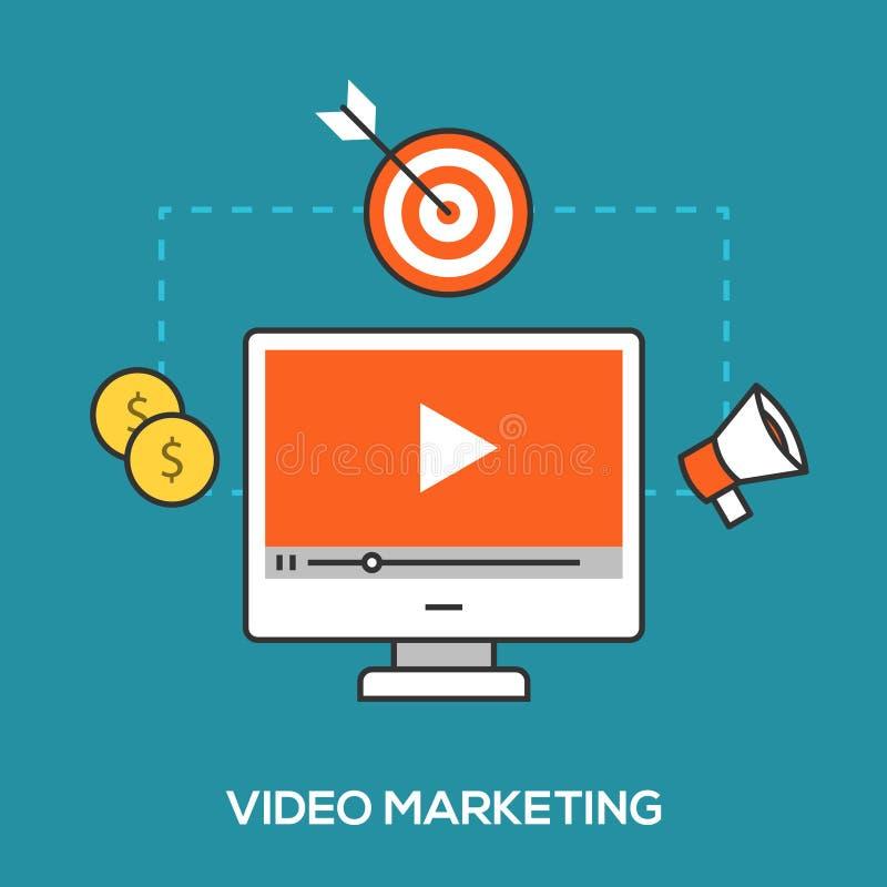 Τηλεοπτική έννοια μάρκετινγκ διανυσματική απεικόνιση