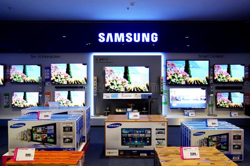 Τηλεοπτική έξυπνη TV της Samsung στοκ φωτογραφίες με δικαίωμα ελεύθερης χρήσης