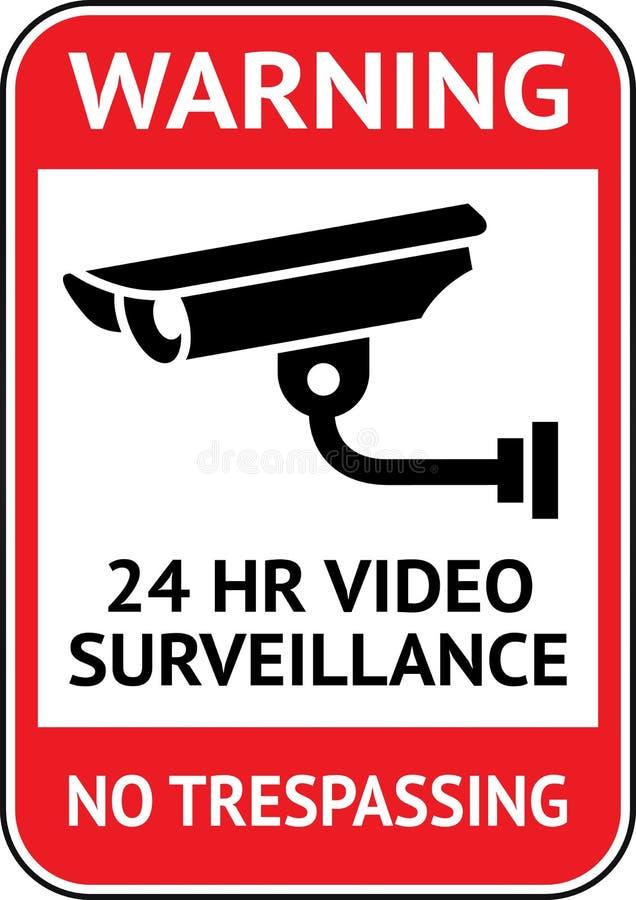 Τηλεοπτική επιτήρηση, ετικέτα CCTV διανυσματική απεικόνιση