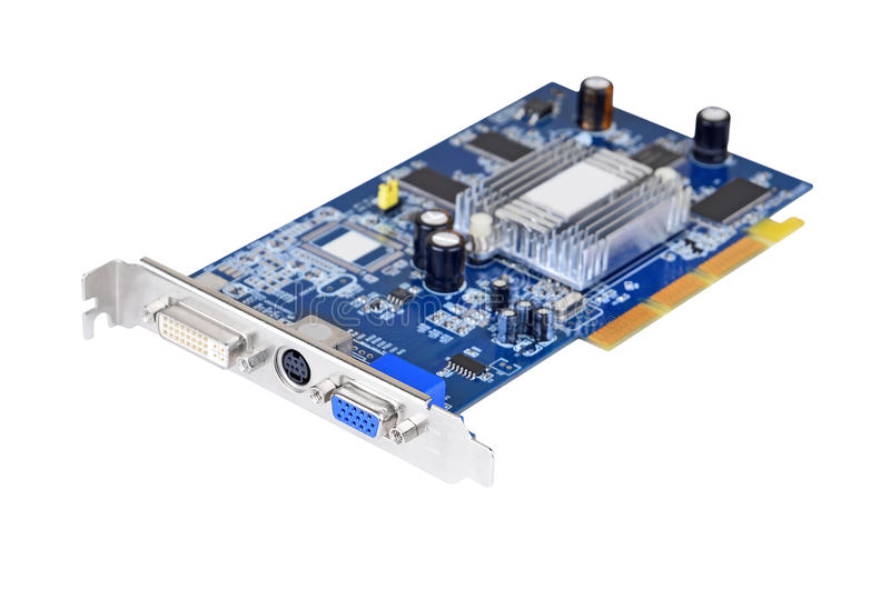 Τηλεοπτική κάρτα PC, DOF στοκ εικόνες