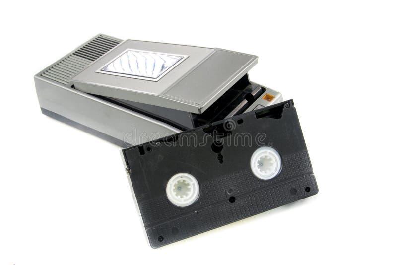 Τηλεοπτική ταινία VHS Rewinder και VHS στοκ φωτογραφία