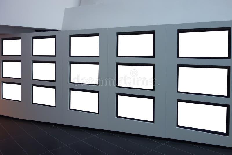 Τηλεοπτικός τοίχος διανυσματική απεικόνιση