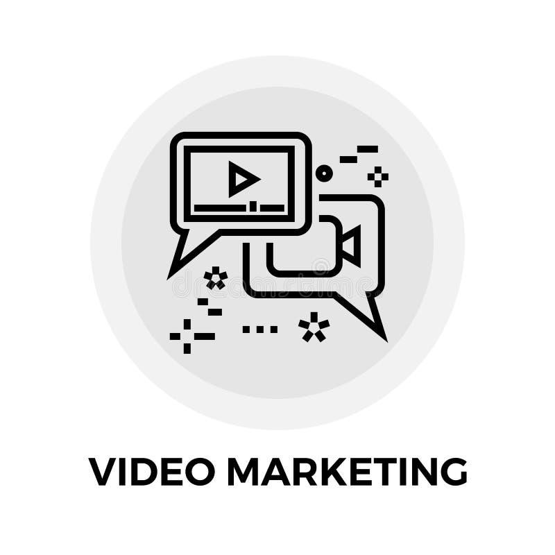 Τηλεοπτικό εικονίδιο γραμμών μάρκετινγκ διανυσματική απεικόνιση