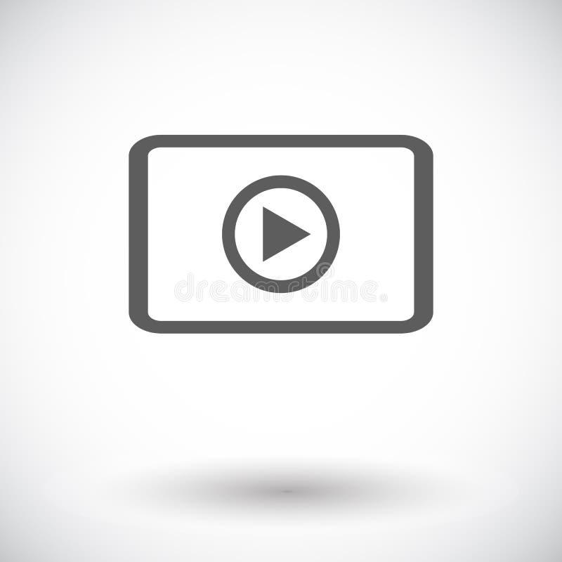 Τηλεοπτικό εικονίδιο απεικόνιση αποθεμάτων