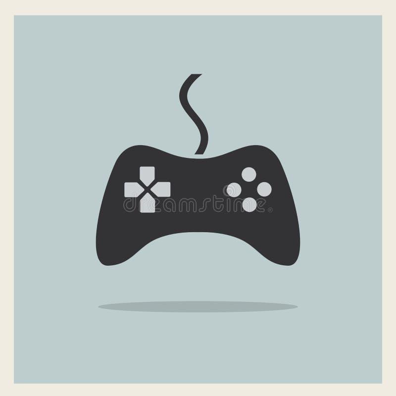 Τηλεοπτικό διάνυσμα πηδαλίων ελεγκτών παιχνιδιών υπολογιστών διανυσματική απεικόνιση