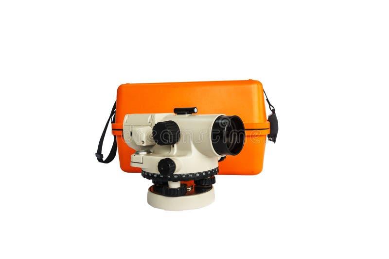 Τηλεσκόπιο επιθεωρητή, αυτόματο επίπεδο, surverying όργανο στοκ εικόνα με δικαίωμα ελεύθερης χρήσης