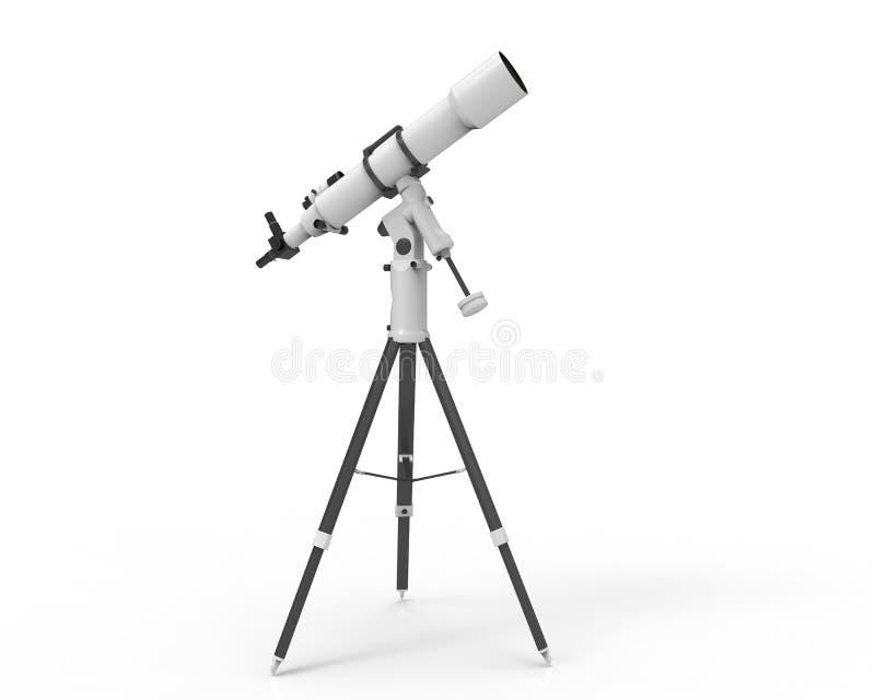 Τηλεσκόπιο που απομονώνεται στο άσπρο υπόβαθρο διανυσματική απεικόνιση