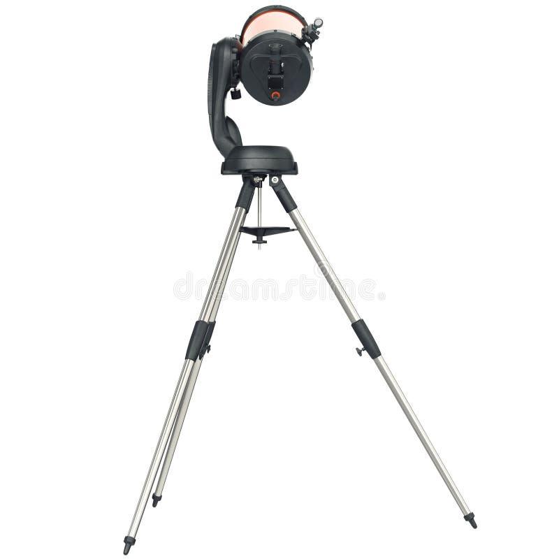 Τηλεσκόπιο στο τρίποδο, πίσω άποψη διανυσματική απεικόνιση