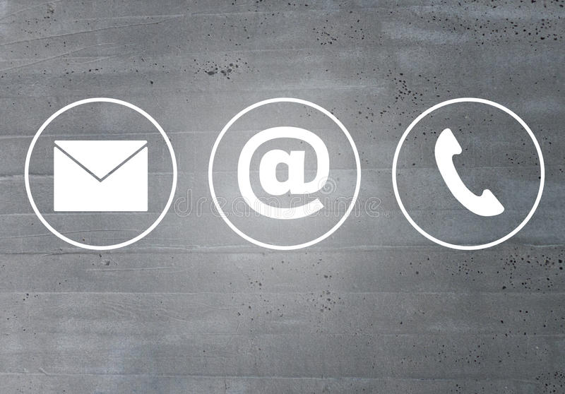 Τηλεφωνική έννοια μηνυμάτων ηλεκτρονικού ταχυδρομείου εικονιδίων επαφών στοκ φωτογραφία με δικαίωμα ελεύθερης χρήσης