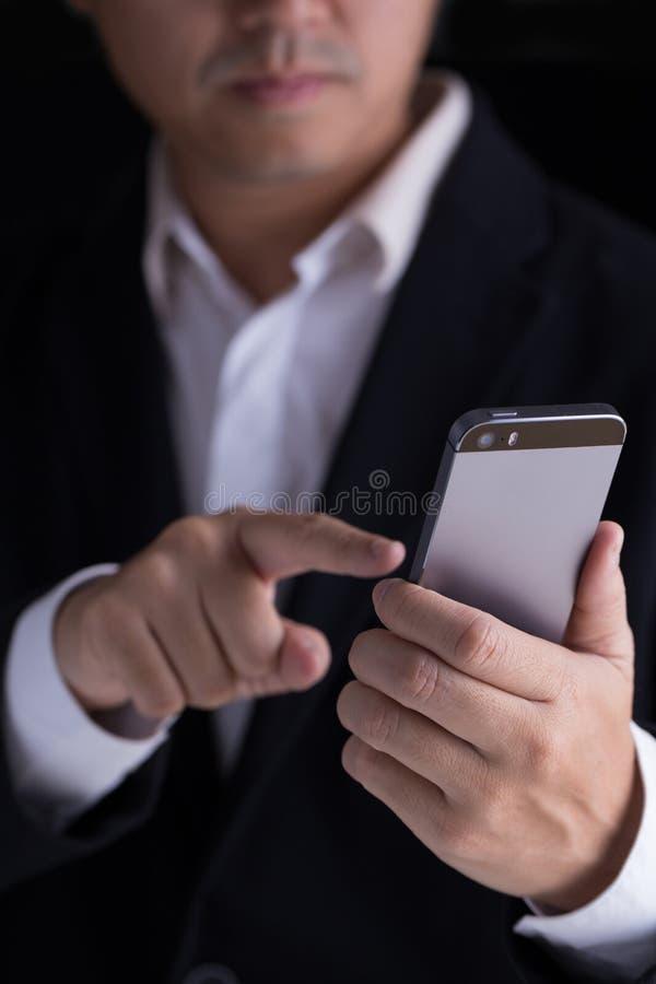 τηλεφωνική έξυπνη χρησιμο&p στοκ φωτογραφία